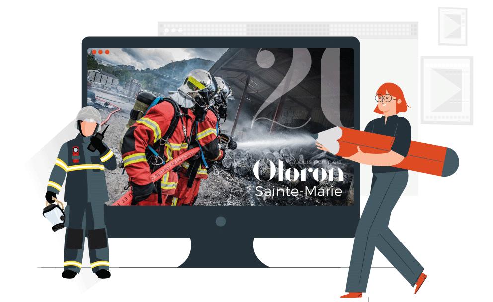 impression calendrier pompier